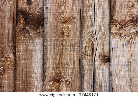 Brown Wooden Plank Wall