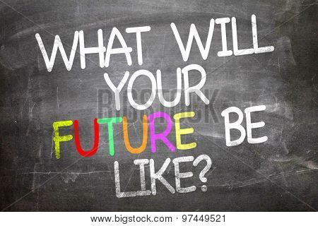 What Will Your Future Be Like? written on a chalkboard