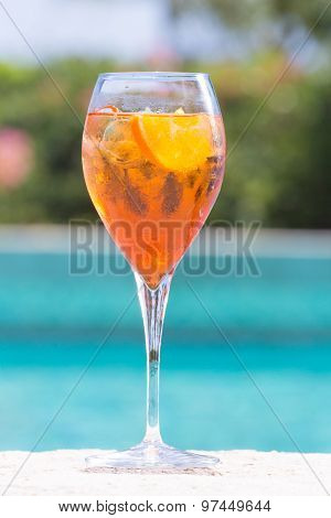 Glass Of Aperol Spritz