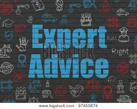 Law concept: Expert Advice on wall background