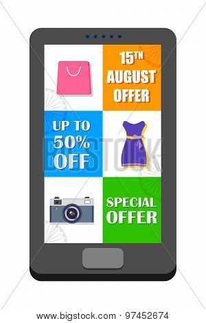 Independence Day of India sale offer in mobile application