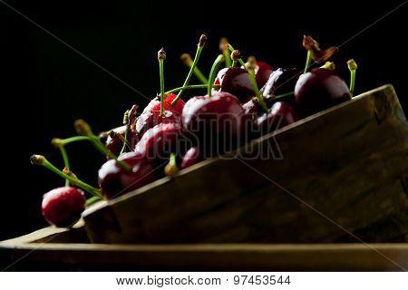 cherries in a box