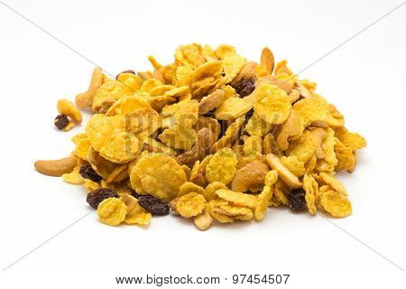 Homemade honey caramel cornflakes