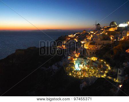 Night view of Santorini
