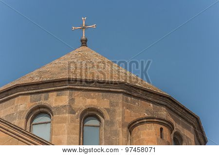 Roof Of Hripsime Church Just Outside Yerevan
