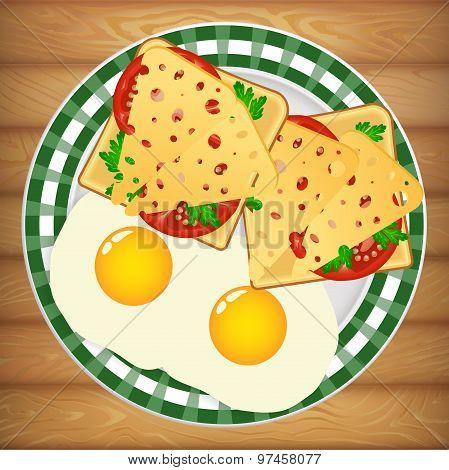 Breakfast Eggs Sandwich