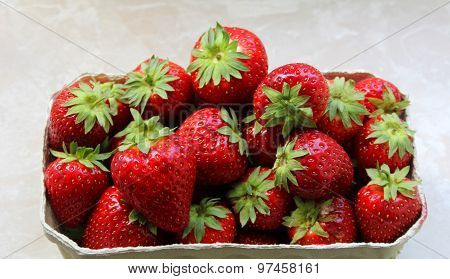 Image Of The Strawberries In A Bowl