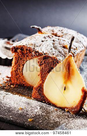 winter pear cake