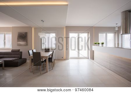 Dining Space In Commodious House
