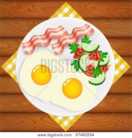 Breakfast Eggs Salad Bacon