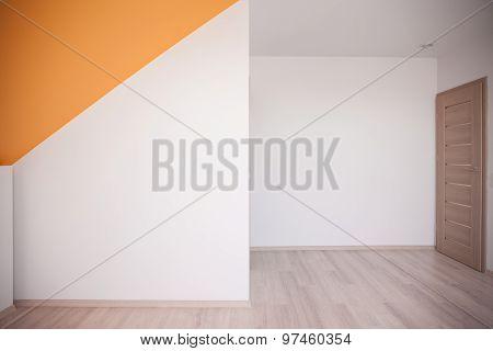 Loft With Orange Color Accent