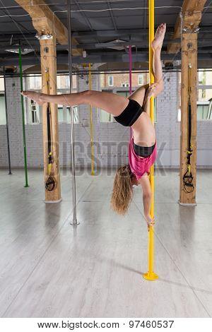 Dancer Hanging Upside Down