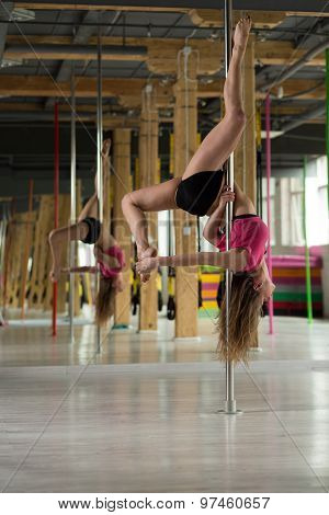 Dancer Hanging On A Pole