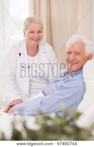 Smiling Patient Of Geriatric Ward