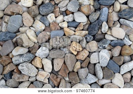 Texture Rounded rocks stones  Grades abstract background