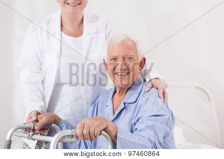 Elderly Man With Disability