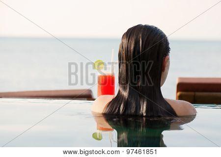 Mai Thai Cocktail At The Pool