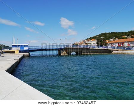 The bridge in the village Tisno in Croatia