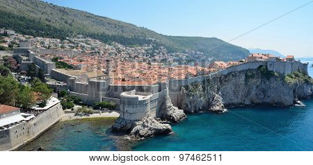 Dubrovnik old town and city wall