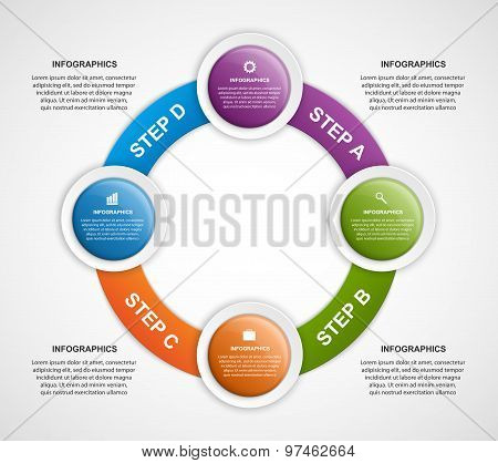 Abstract Infographic Design Template.