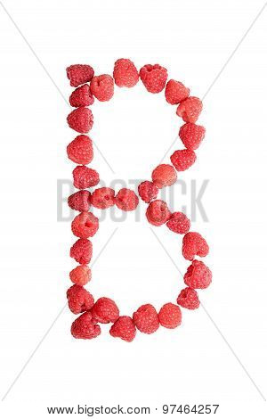 Letter B Made From Berries
