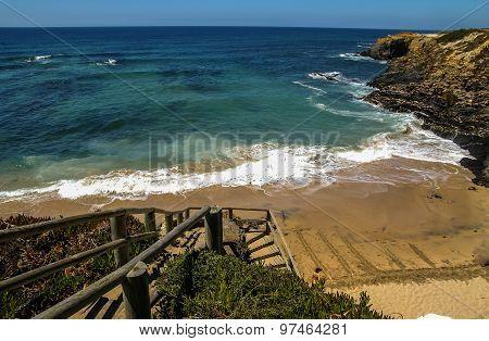 Seascape At Vila Nova De Milfontes, Portugal