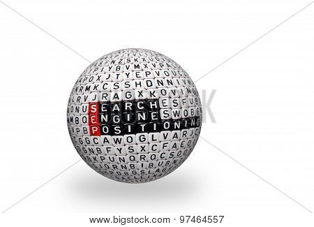 Sep Search Engine Positioning 3D Ball