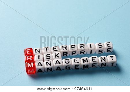 Erm Enterprise Risk Management Blue