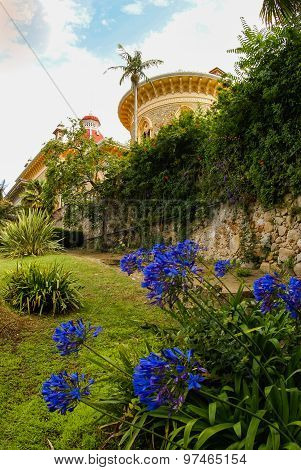 Landscape At Monseraty Park With Beautiful House, Cintra, Portugal