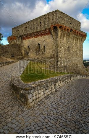 Ruines Of An Ancient Castle At Ourem, Portugal