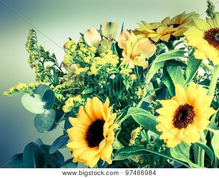 Autumn Flower Vintage Style.