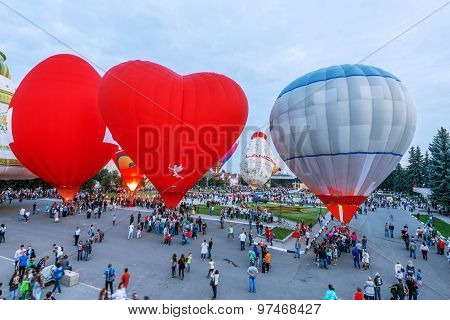 Sky Of St. Sergius Festival Of The Hot Air Balloons.