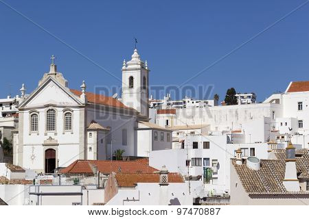 Old town of Albufeira, Algarve, south of Portugal