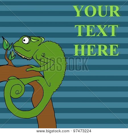 Chameleon Cartoon Vector Illustration
