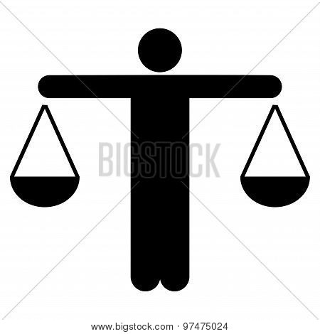 Lawyer icon from Business Bicolor Set