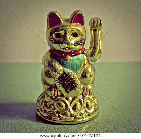 Vintage Chinese Cat Figurine