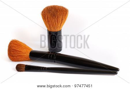 Make Up Brushes Isolated On White Background