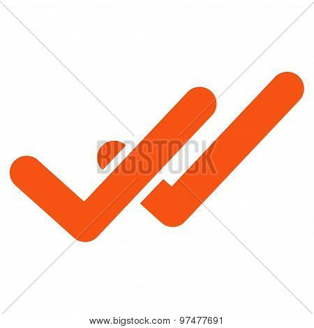 Validation icon from Business Bicolor Set