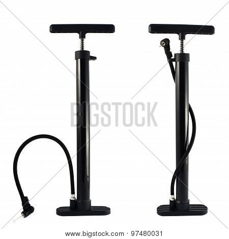 Black bicycle air pump