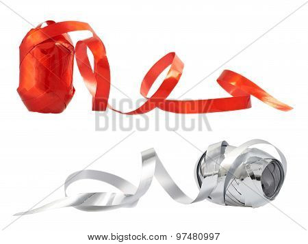 Decorational ribbon tape reel isolated