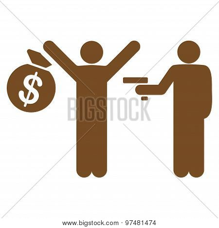Robbery Flat Icon From Business Bicolor Set