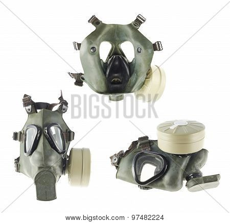 Army gas mask isolated