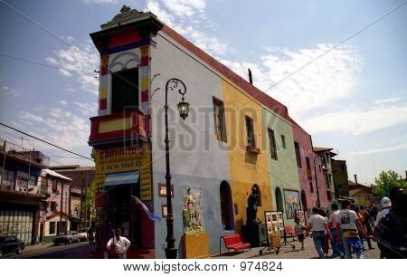 Stock Photo Of Buenos Aries, Argentian, El Caminito St