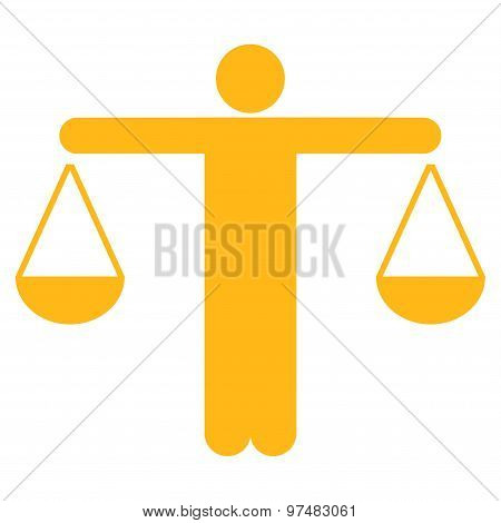 Lawyer Flat Icon From Business Bicolor Set