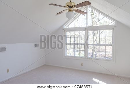 Empty Loft Bedroom