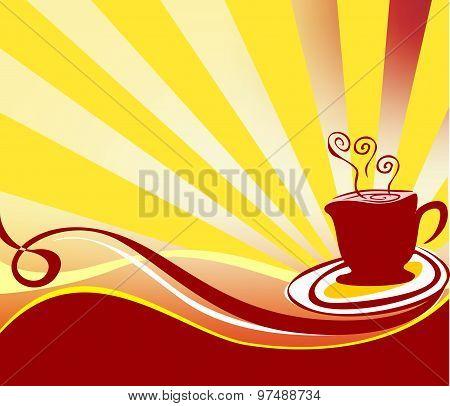 Coffee Background Logo Vector