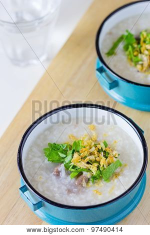 Rice Congee Mixed With Meat