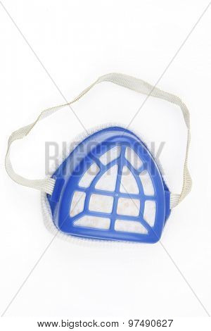 Dust mask on plain background