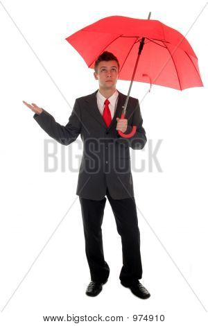 Kaufmann, die Überprüfung auf Regen
