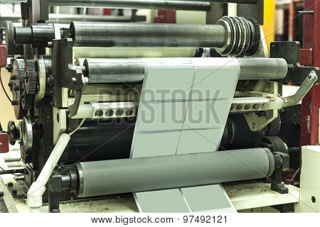 Printing Labels On Label Printing Machine
